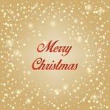 金子圣诞节雪背景 向量 袜子 库存照片