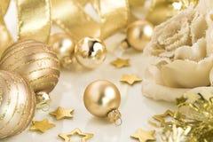 金子圣诞节 免版税库存图片