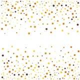金子在白色背景的闪烁星 免版税图库摄影