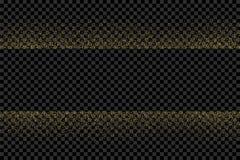 金子在透明背景的闪烁五彩纸屑 免版税库存图片