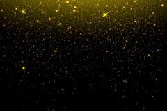 金子在黑背景的闪烁纹理 设计要素例证图象向量 在黑背景的金黄粒状抽象纹理 金黄 向量例证
