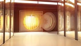 金子在Th银行中 皇族释放例证