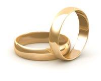 金子婚戒 免版税库存图片