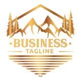 金子室外的Logo_vintage 皇族释放例证