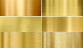 金子或黄铜掠过的金属纹理 库存图片