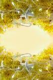 金子抽象假日点燃在mi的背景和拷贝空间 库存图片