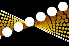 金子抽象形状和黑背景 免版税库存图片