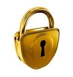 金子查出的锁定 库存例证