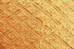 金子样式和背景的被绘的墙壁 免版税库存照片