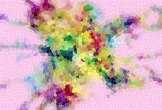 金子桃红色绿色泥泞的嬉戏的形状,形式,抽象淡色颜色 库存图片