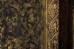 金子泰国样式的纹理 免版税库存照片