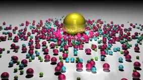 金子球形和周围 库存图片