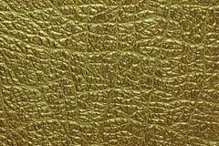 金子皮革背景和纹理 免版税图库摄影