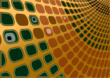 金子绿色减速火箭的向量 图库摄影