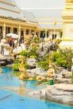 金子美丽的景色嗯的皇家火葬场2017年11月的04日已故的国王普密蓬・阿杜德 库存照片
