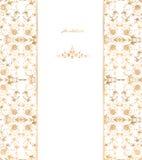 金子花卉在白色背景。传染媒介 免版税库存照片