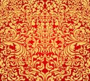 金子花卉艺术样式 向量例证