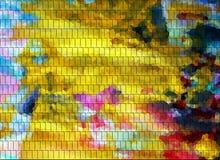 金子蓝色软的红色桃红色形成背景,抽象纹理 库存照片