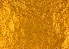 金子被弄皱的箔 库存照片