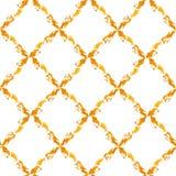 金子被绘的rhombs 库存照片