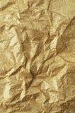 金子起皱纹的纸纹理摘要背景 库存照片