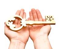 金子钥匙 免版税库存图片
