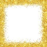金子闪烁在白色backround的边界框架 向量 库存图片