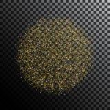 金子闪烁尘土球形 向量例证