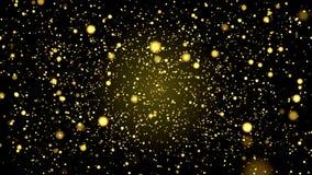 金子闪烁抽象背景3d动画4K 向量例证