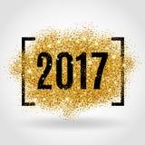 金子闪烁新年 免版税库存图片