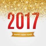 金子闪烁新年 库存照片
