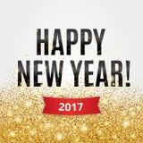 金子闪烁新年 免版税库存照片