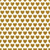 金子闪烁爱心脏纸 免版税库存图片