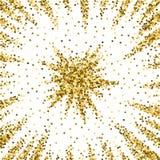 金子闪烁豪华闪耀的五彩纸屑 分散 皇族释放例证