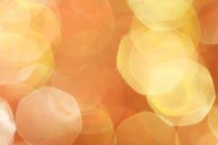 金子,银,红色,白色,橙色抽象bokeh点燃, defocused背景 免版税库存图片