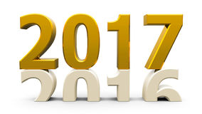 2016-2017金子 库存例证