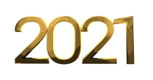 2021年金子 向量例证