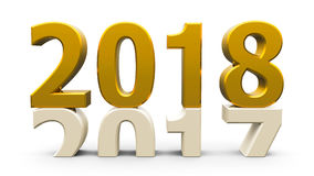 2017-2018金子 库存例证
