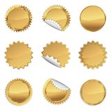 金子Starbursts集合,例证 向量例证