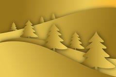 金子Xmas树背景 图库摄影