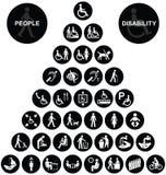 金字塔健康与安全象汇集 库存图片