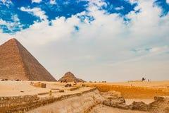 金字塔在开罗,埃及 免版税库存图片
