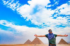 金字塔在开罗,埃及 免版税库存照片