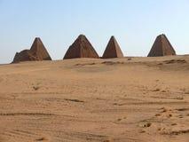 金字塔在苏丹。 免版税库存照片