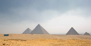 金字塔平原 免版税图库摄影