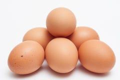 金字塔形状的鸡蛋堆 库存图片