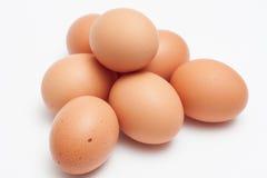 金字塔形状的鸡蛋堆 免版税图库摄影