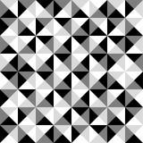 金字塔无缝的黑白瓦片样式-计数正方形 向量例证