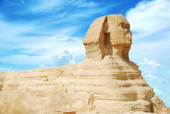金字塔狮身人面象 免版税图库摄影