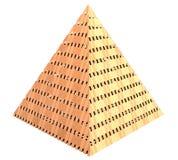 金字塔由木头3d制成 图库摄影